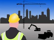 строительная площадка atlanta иллюстрация штока