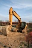 строительная площадка backhoe Стоковое Изображение