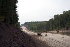 Строительство дорог во времени осени Стоковое Изображение