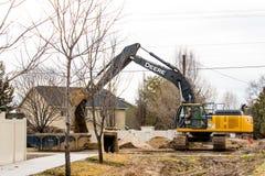 Строительство дорог зимы в Boise Айдахо Стоковые Изображения