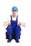 строитель безвыходный стоковая фотография rf