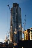 Строительная площадка башенкы, Лондона стоковое изображение