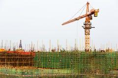Строительная площадка в Китае стоковые изображения