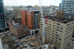 Строительная площадка в Торонто, Канаде стоковая фотография rf
