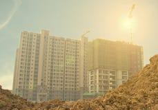 Строительная площадка жилого дома Стоковое фото RF
