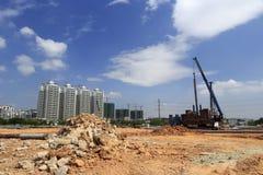 Строительная площадка жилого района dongfangxincheng (метро восточного) Стоковые Изображения