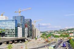 Строительная площадка на Bjorvika Осло Норвегии Стоковая Фотография RF