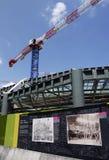 Строительная площадка на Les Halles, Париже, Франции. Стоковая Фотография RF