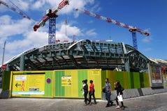 Строительная площадка на Les Halles, Париже, Франции. Стоковые Изображения RF