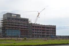 Строительная площадка нового здания для университета Суонси, Уэльса Стоковое Изображение