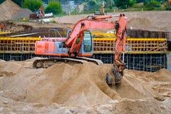 Строительная площадка новой дороги Стоковая Фотография