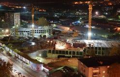 Строительная площадка ночи Стоковое Фото