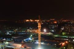 Строительная площадка ночи Стоковая Фотография