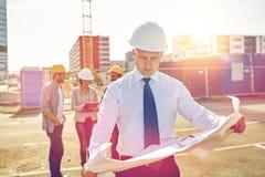 строительная площадка светокопии архитектора Стоковые Фотографии RF