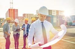 строительная площадка светокопии архитектора Стоковая Фотография RF