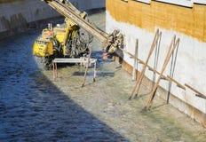 Строительная площадка, строительная техника Стоковая Фотография RF
