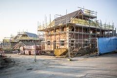 Строительная площадка с новыми домами Стоковая Фотография