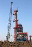 Строительная площадка фабрики Стоковое Изображение