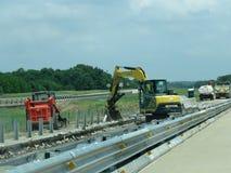 Строительная техника Оклахома шоссе Стоковое Изображение RF