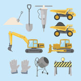 Строительное оборудование и машинное оборудование Стоковые Изображения