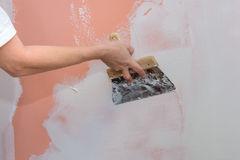 Строительства, замазка и стены выравнивать Стоковое Изображение RF