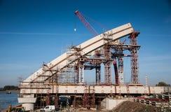 Строительство моста Стоковое Фото