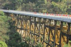 Строительство моста Стоковые Фото