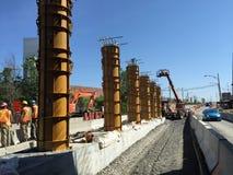 Строительство моста Стоковые Изображения