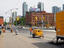 Строительство на бульваре spadina стоковые изображения