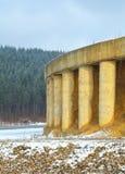 Строительство дорог в зиме Стоковые Фотографии RF