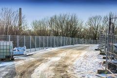 Строительство дорог в зиме Стоковое Изображение