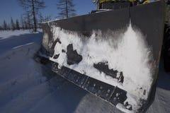 Строительство дорог на дороге зимы Стоковые Фото