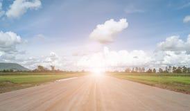 Строительство дорог через сельскую местность Стоковые Изображения RF