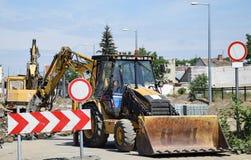 Строительство дорог Стоковая Фотография
