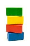 строить блоков деревянный Стоковое фото RF