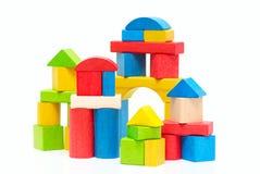 строить блоков деревянный стоковое изображение rf