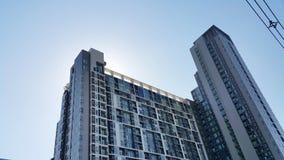 Строить и голубое небо Стоковая Фотография RF
