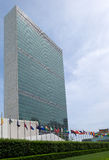 Строить и флаги Организации Объединенных Наций Стоковое Фото