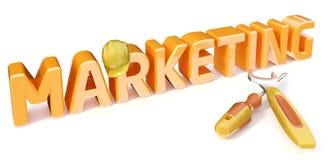 Строить маркетинг Стоковое Изображение