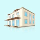 Строить малую гостиницу с отражением бесплатная иллюстрация