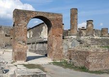 Строить остается, Di Pompei Scavi стоковые фото