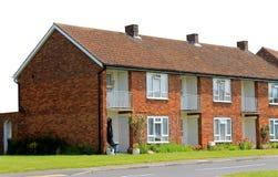 Строка английских домов террасы Стоковые Фото