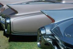 Строка античных автомобилей на выставке автомобиля Беверли-Хиллз в Лос-Анджелесе, CA Стоковые Изображения RF