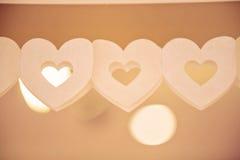 Строка бумажных сердец Стоковое Изображение
