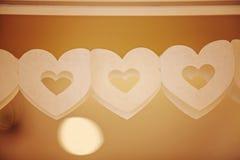 Строка бумажных сердец Стоковые Фотографии RF