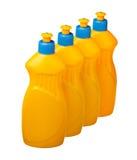 Строка бутылок чистки дома Стоковые Фотографии RF
