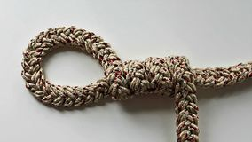 Строка веревочки узла петли Стоковые Изображения