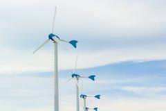 Строка ветротурбины Стоковое Фото