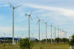 Строка ветротурбины Стоковые Фотографии RF