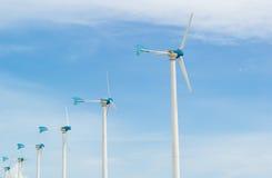 Строка ветротурбины Стоковое фото RF